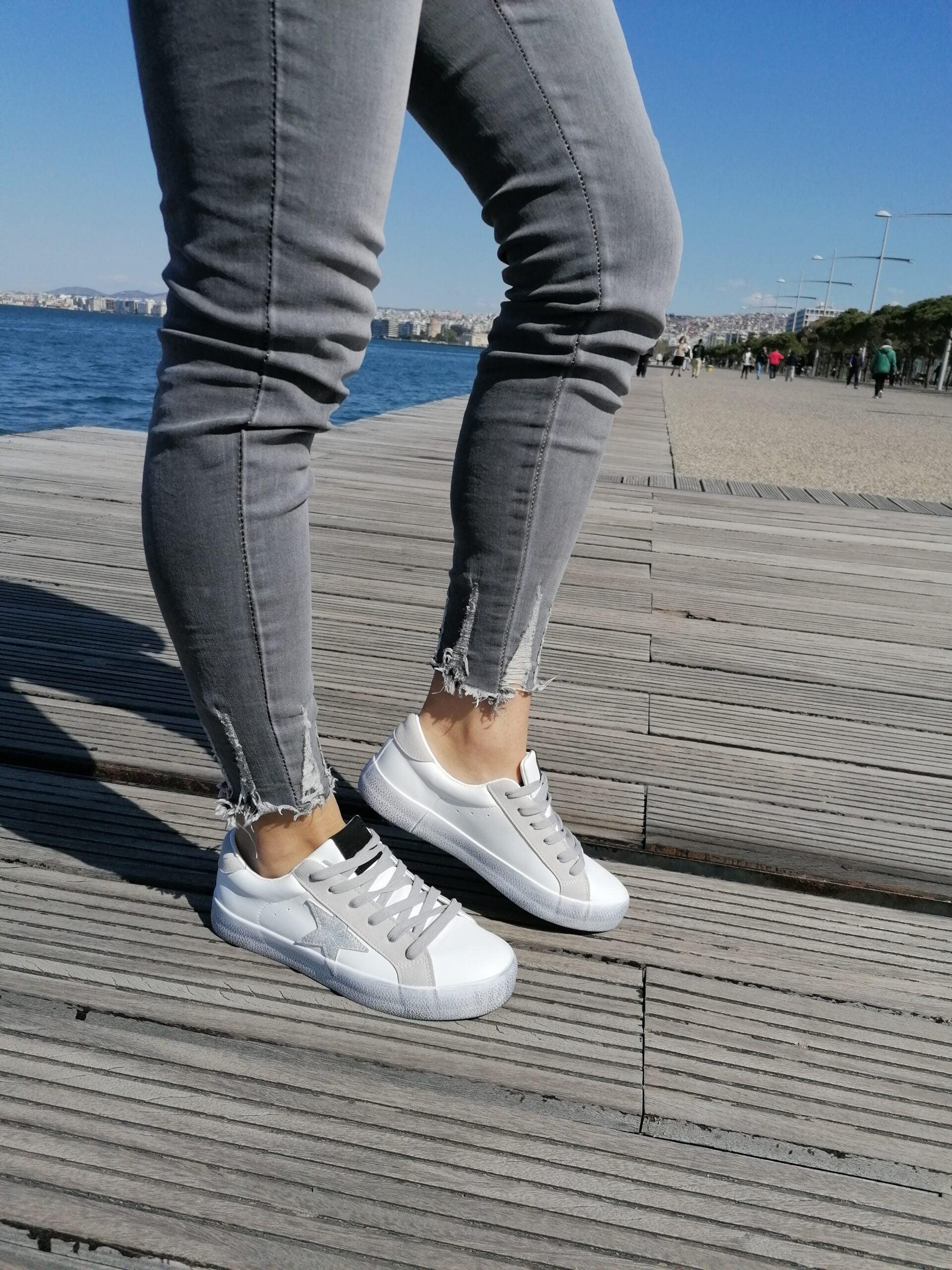 Sneakers με Σχέδιο στο Πλάι White