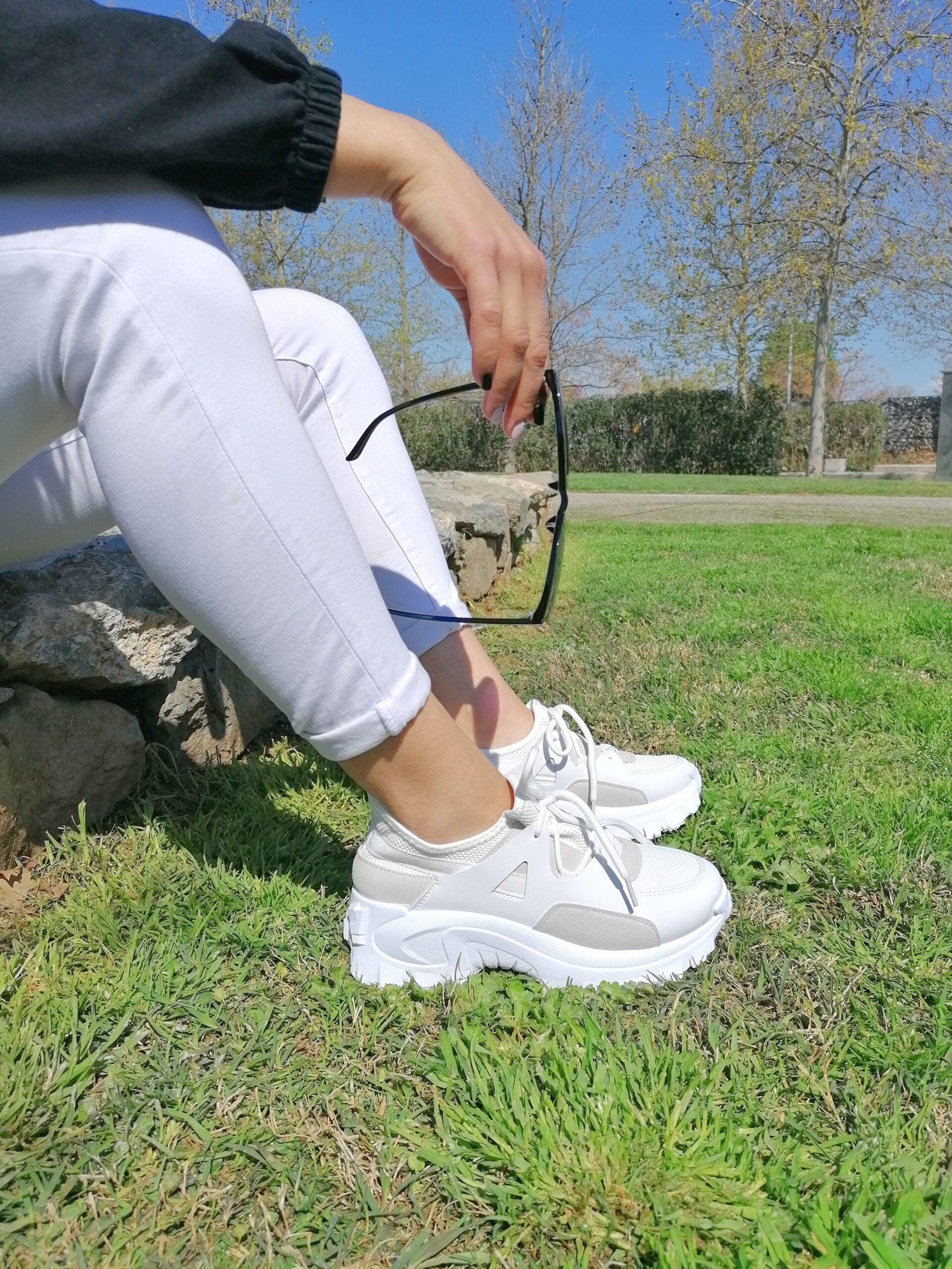 Sneakers Κάλτσα Δίχρωμα White