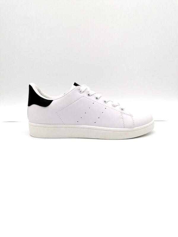 Men's WHITE-Black Sneakers