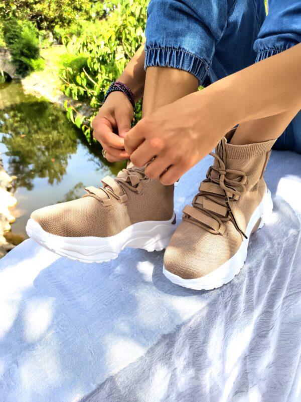 Sneakers khaki sock