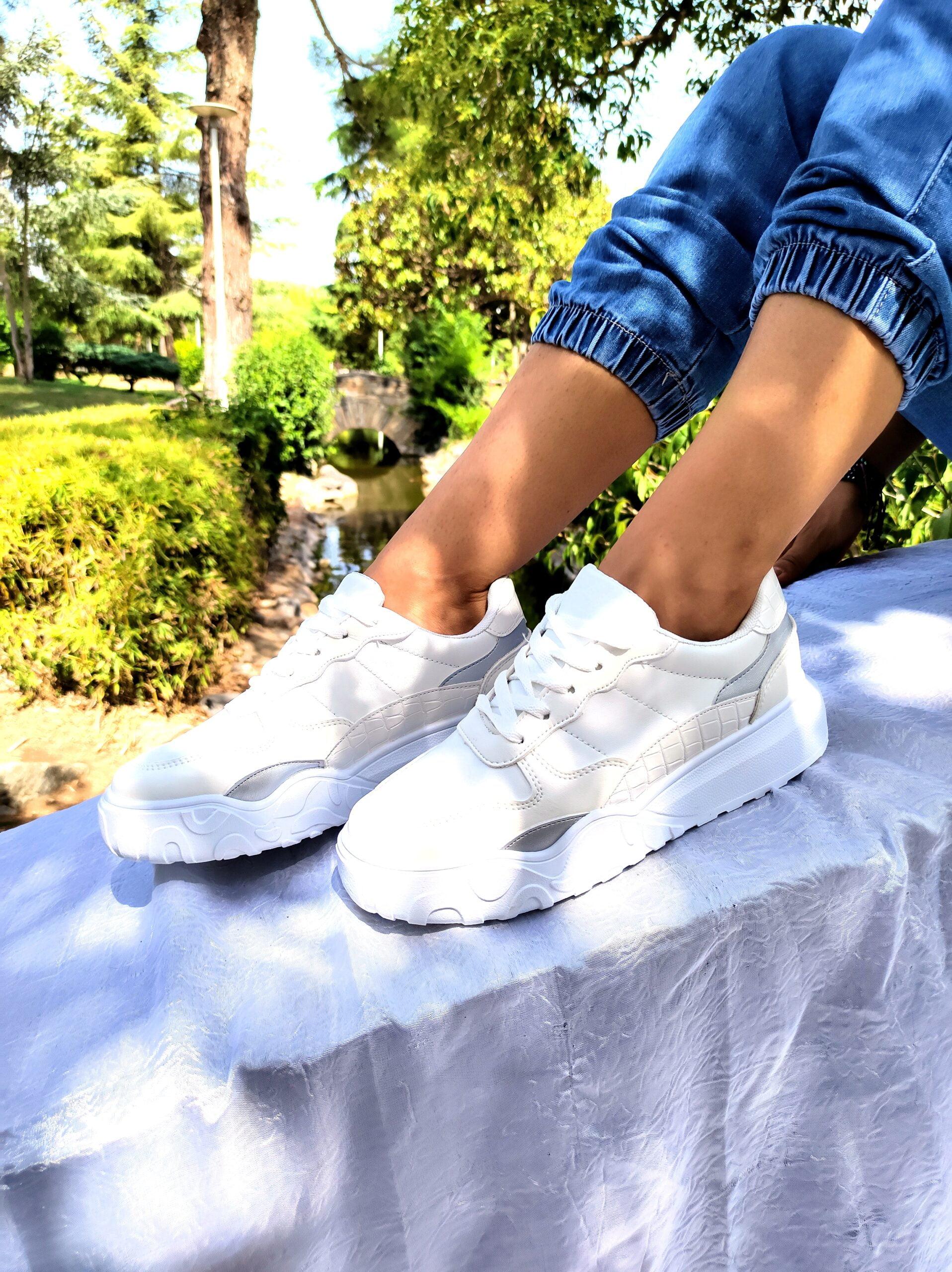 Sneakers Δίχρωμα White/Grey