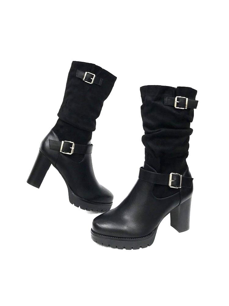 Ψηλοτάκουνες Μπότες Black