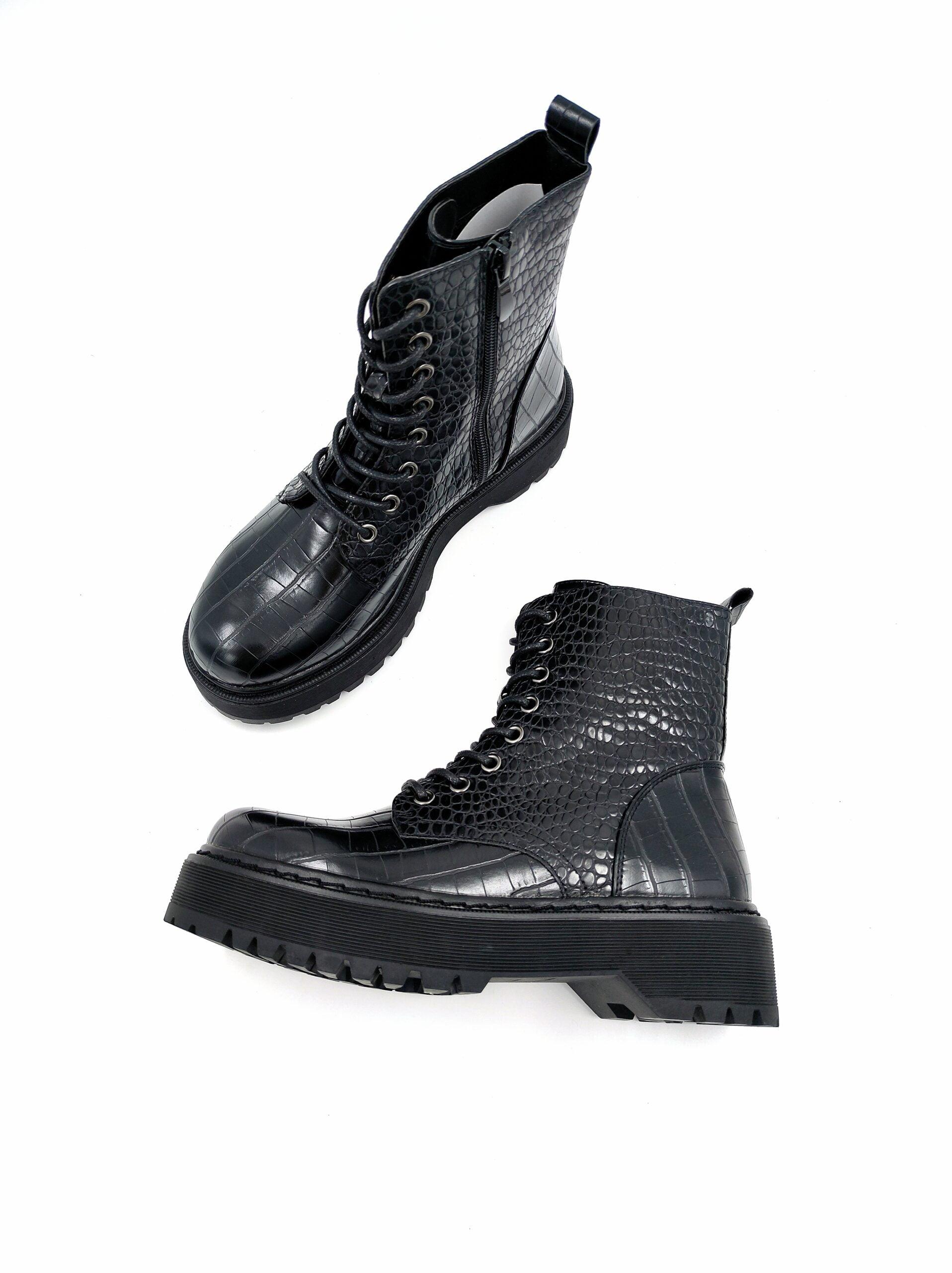 Flatform Croc Αρβυλάκια Black