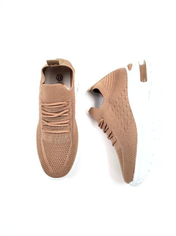 Sneakers Κάλτσα με Αερόσολα Khaki
