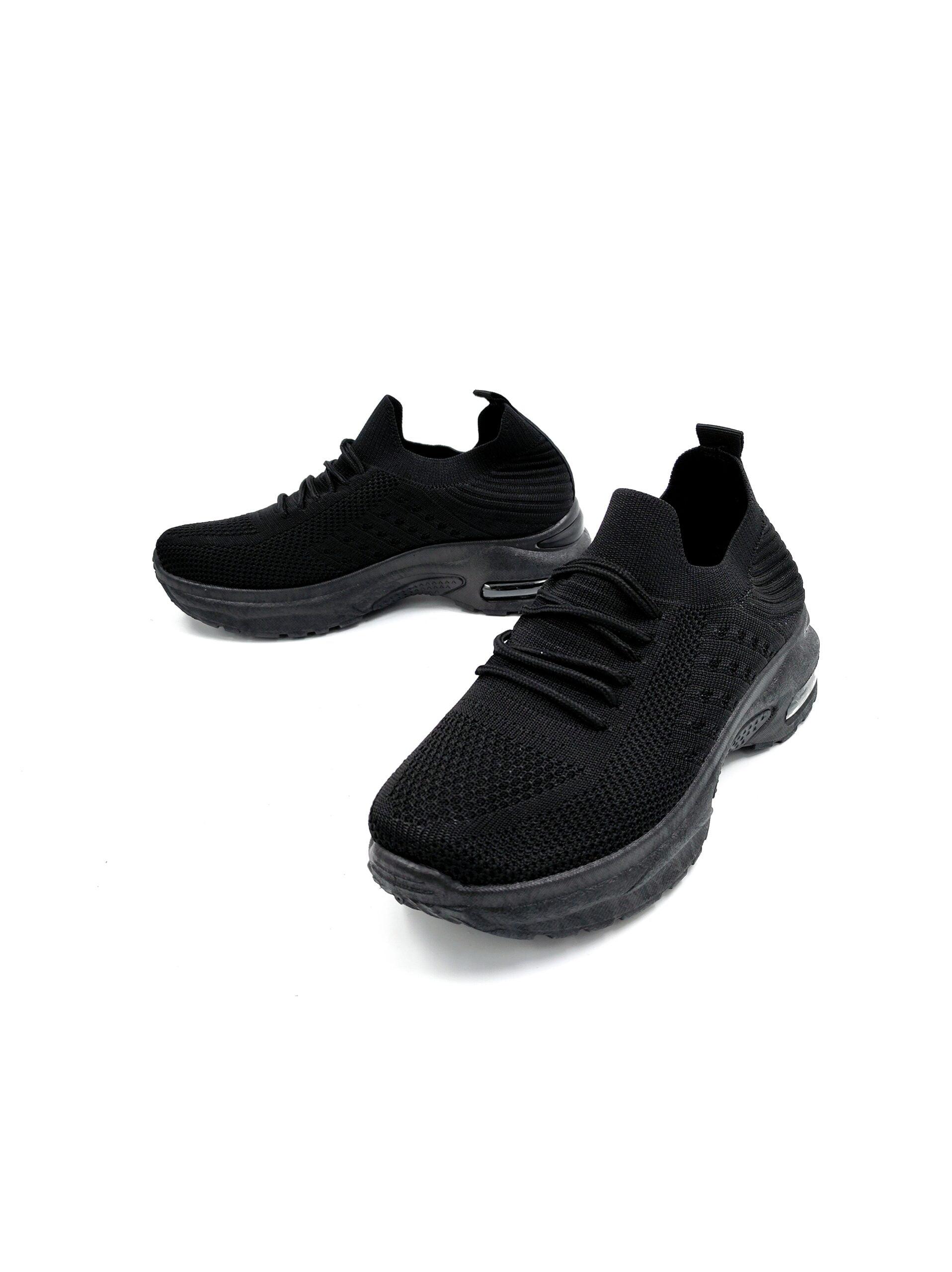 Sneakers Κάλτσα με Αερόσολα All Black