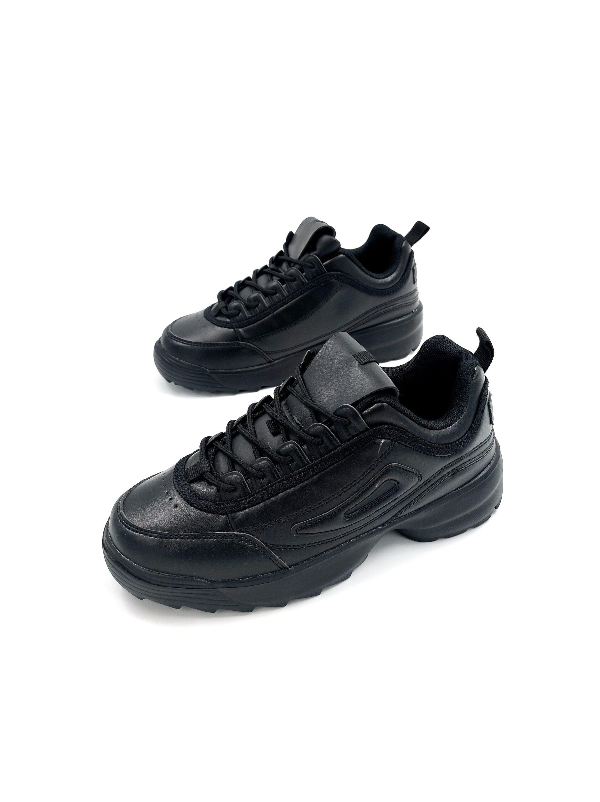 Sneakers με Ανάγλυφο Σχέδιο Black