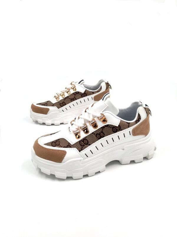 Γυναικεία Sneakers με Λεπτομέρειες White