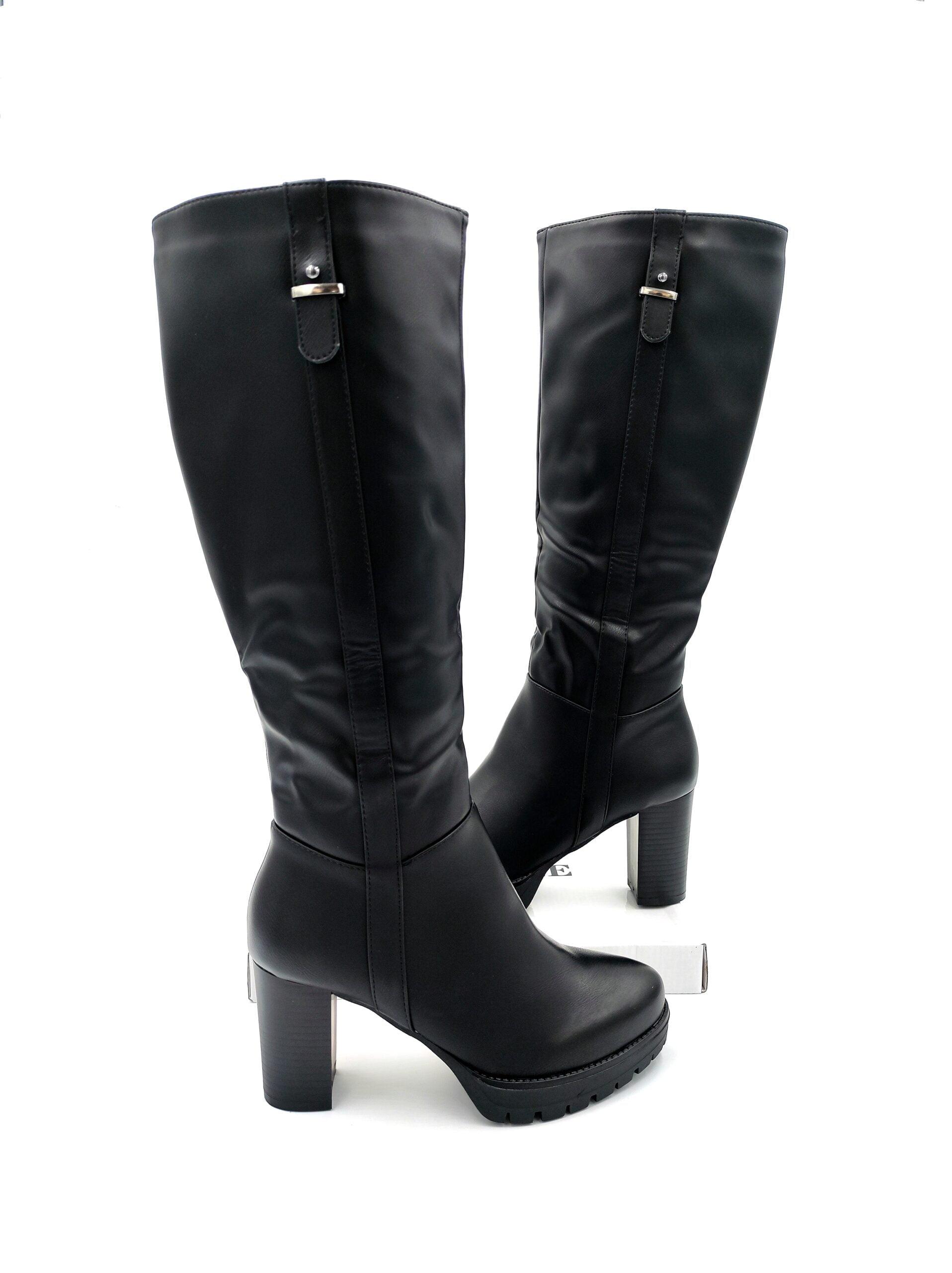 Μπότες με Χοντρό Τακούνι Black
